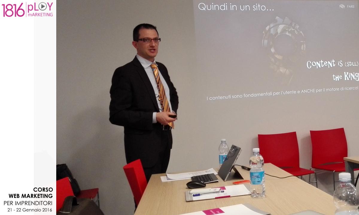 Corso Web Marketing gennaio 2016 – Giorgio Nicoli