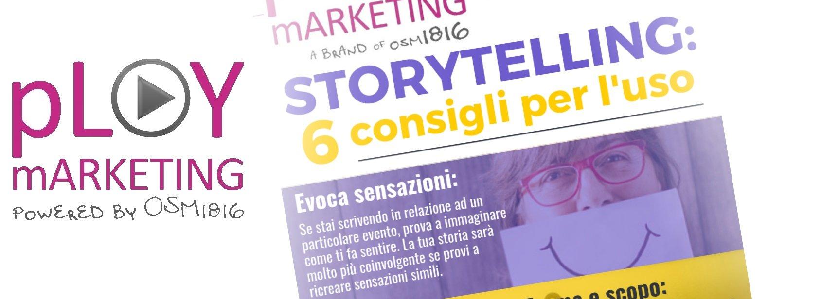 Infografica: Storytelling – 6 consigli per raccontare la tua storia
